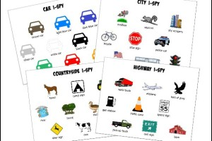 Road Trip I-Spy for Preschoolers