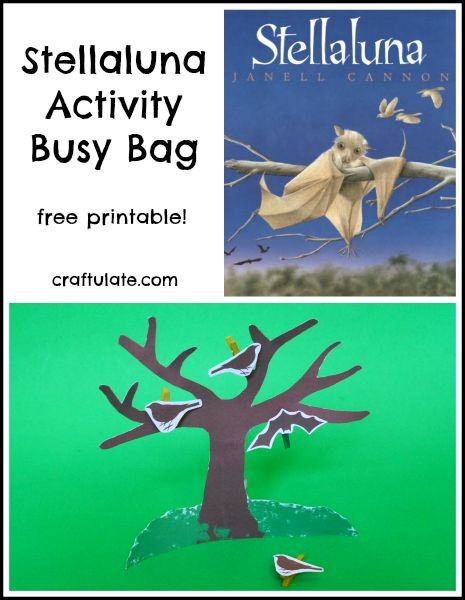 Stellaluna Activity Busy Bag with free printable