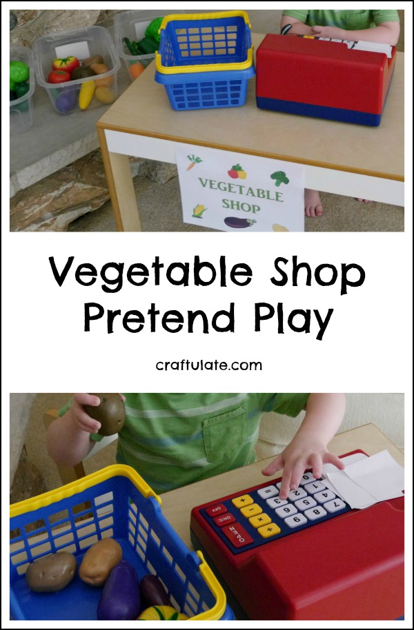 Vegetable Shop Pretend Play - great for imaginative kids!