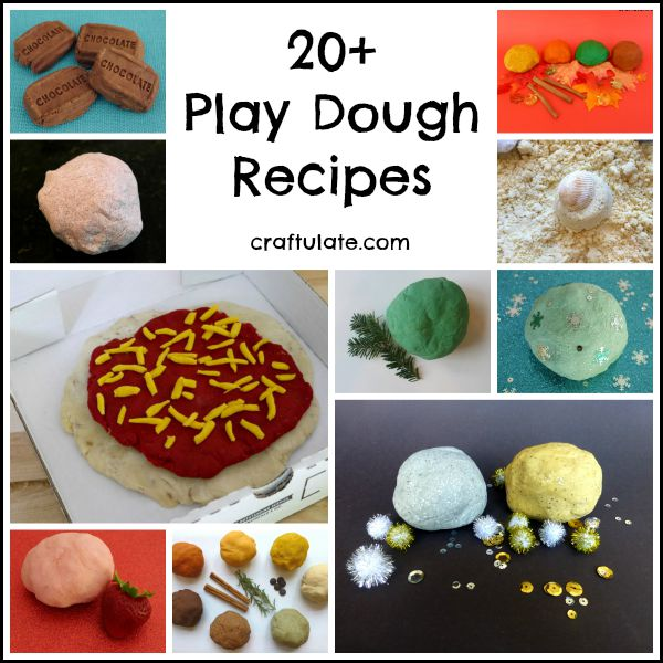 20+ Play Dough Recipes from Craftulate
