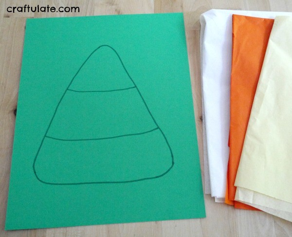 Easy Candy Corn Craft