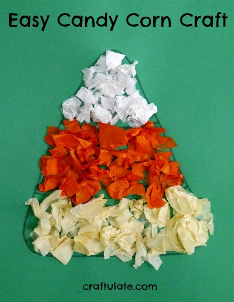 Easy Candy Corn Craft - a fun craft for Thanksgiving or Halloween parties!