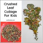 Crushed Leaf Collage for Kids