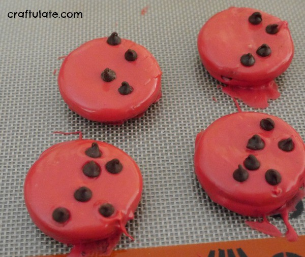 Ladybug Oreo Treats