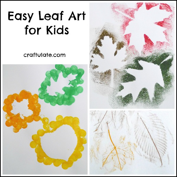 Easy Leaf Art for Kids - three different ways to celebrate fall with art!