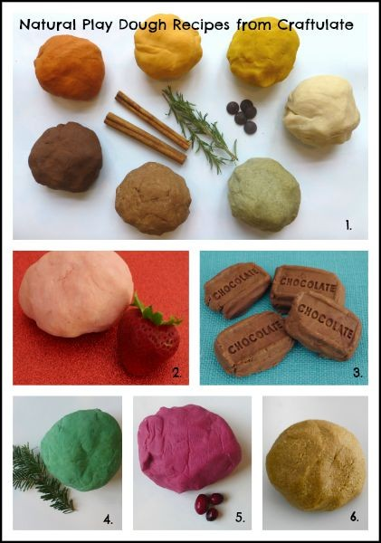 Natural Playdough Recipes from Craftulate