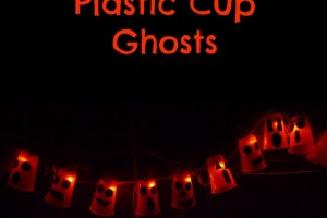 Light-Up Plastic Cup Ghosts