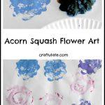 Acorn Squash Flower Art