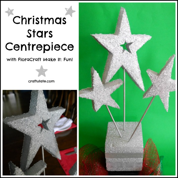 Christmas Stars Centrepiece with FloraCraft Make It: Fun!