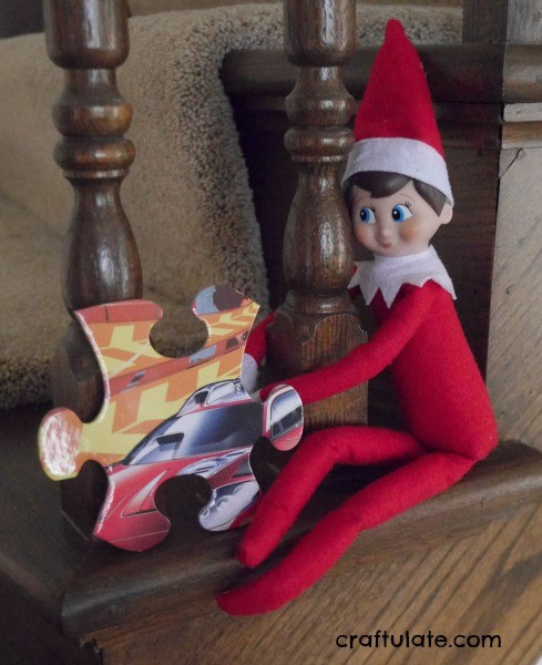 Elf on the Shelf with Puzzle Pieces