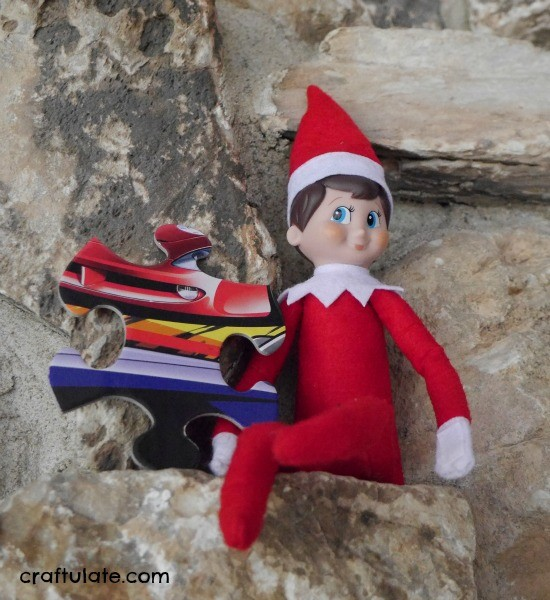 Elf on the Shelf with Puzzle Pieces - the Elf brings one piece each day!!