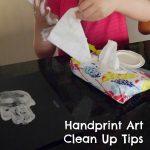 Handprint Art Clean Up Tips