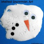 Melted Snowman Art