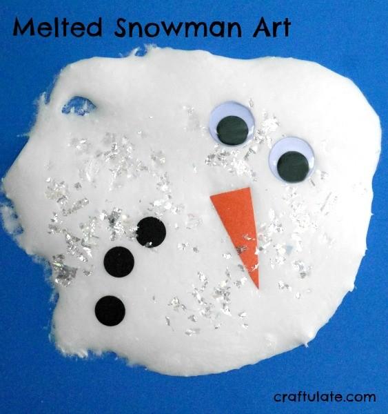 Melted Snowman Art - Craftulate