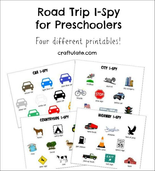 Road Trip Worksheets : Road trip i spy for preschoolers craftulate