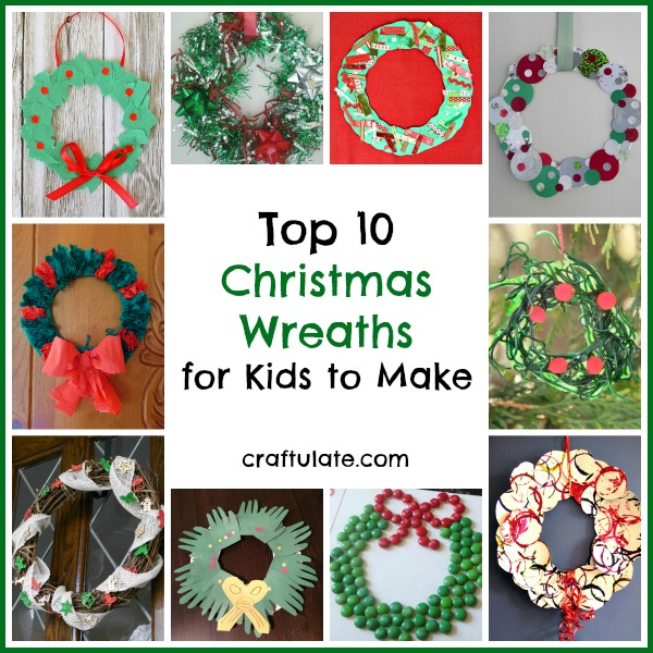 top 10 christmas wreaths for kids to make - How To Make A Christmas Wreath