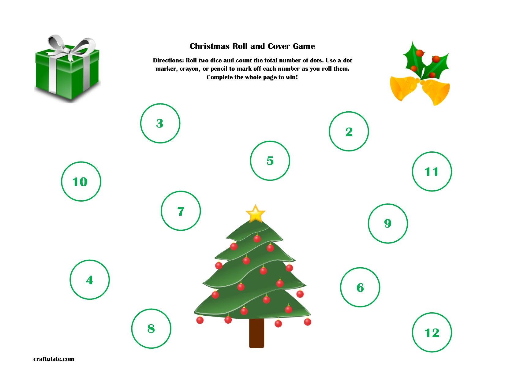 graphic regarding Christmas Dice Game Printable named Xmas Roll and Protect Activity Printable - Craftulate