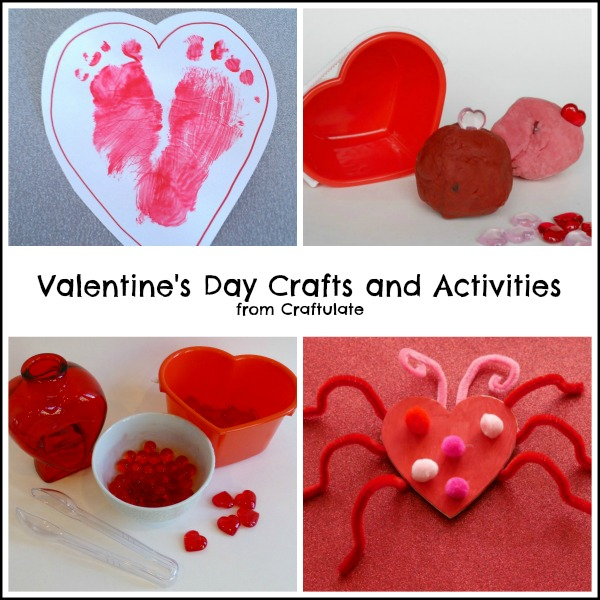 Valentines Crafts and Activities for Kids from Craftulate