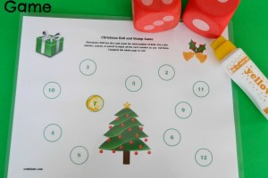 Christmas Two Dice Roll and Cover Game