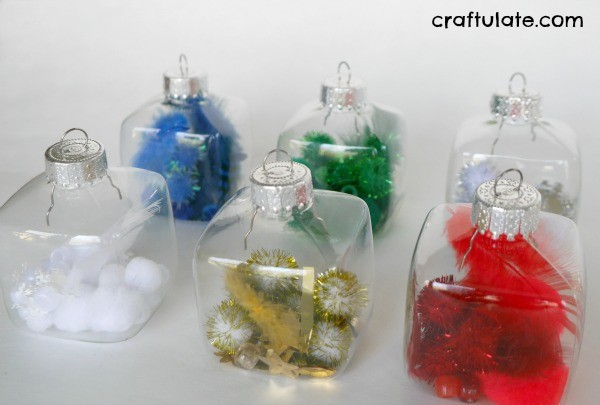 Colour Sorted Fillable Ornaments