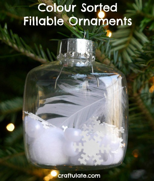 Colour Sorted Fillable Ornaments - a fun activity with craft materials!
