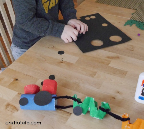 Egg Carton Steam Train Craft