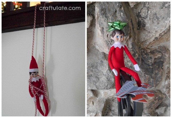 Elf on the shelf with puzzle pieces craftulate for Elf shelf craft show
