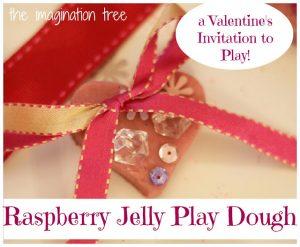 Raspberry Jello Play Dough