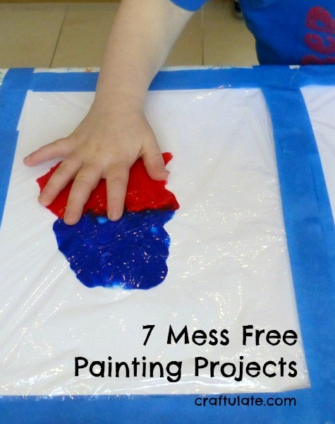 7 Mess Free Painting Projects - keep your next art session with the kids clean!