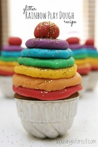 Glitter Rainbow Play Dough