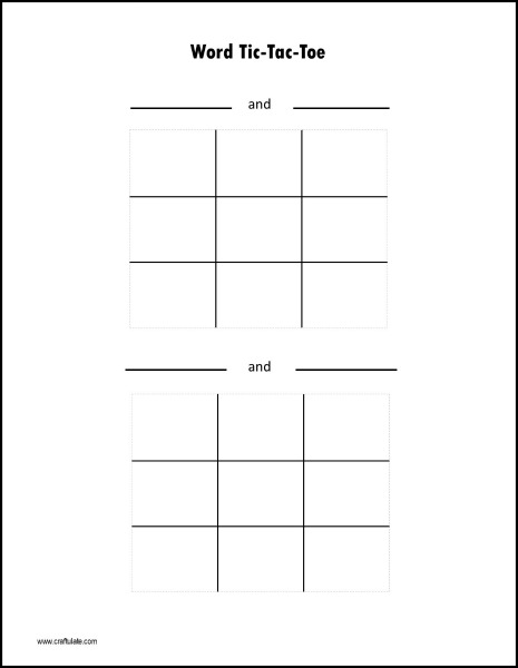 photograph about Tic Tac Toe Printable known as Phrase Tic-Tac-Toe Video game Printable - Craftulate