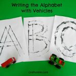 Writing the Alphabet with Vehicles