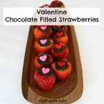 Valentine Chocolate Filled Strawberries