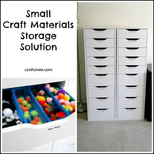 Craft Materials Storage