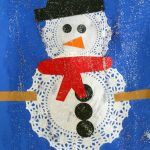 Doily Snowmen Craft