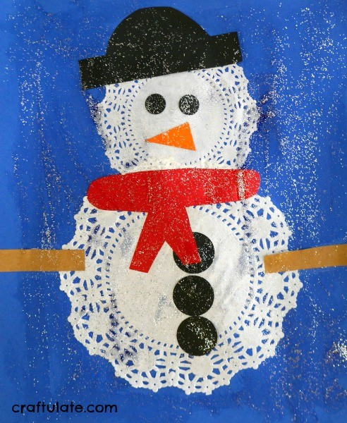 Doily Snowmen Craft A Fun Winter Activity For Kids