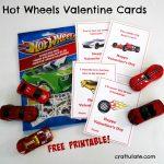Hot Wheels Valentine Cards