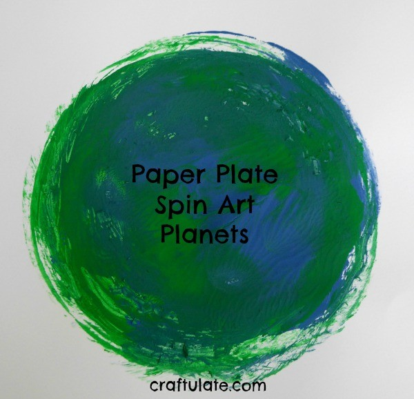 Paper Plate Spin Art Planets - a fun art project for kids learning about outer space!