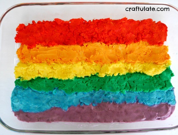 Rainbow Baking Soda Dough - a fun and vibrant sensory dough for kids to enjoy!