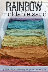 Rainbow Moldable Sand