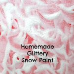 Homemade Glittery Snow Paint