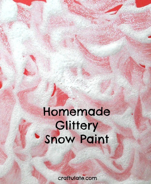 Homemade Glittery Snow Paint - a winter process art activity for kids