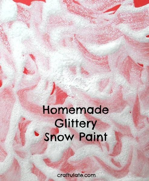 Homemade Glittery Snow Paint - a winter process art activity for kids