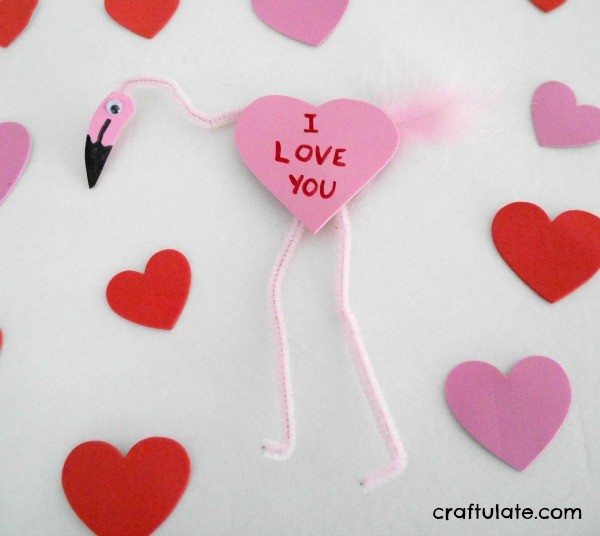 Valentine Flamingo Craft