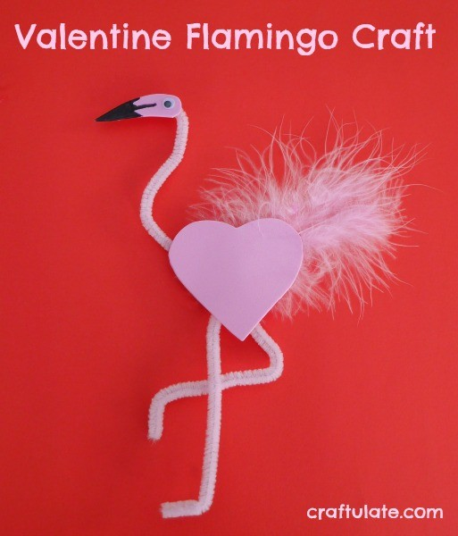 Valentine Flamingo Craft - a fun activity for the kids!