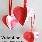 Valentine Ornaments from Kids' Artwork