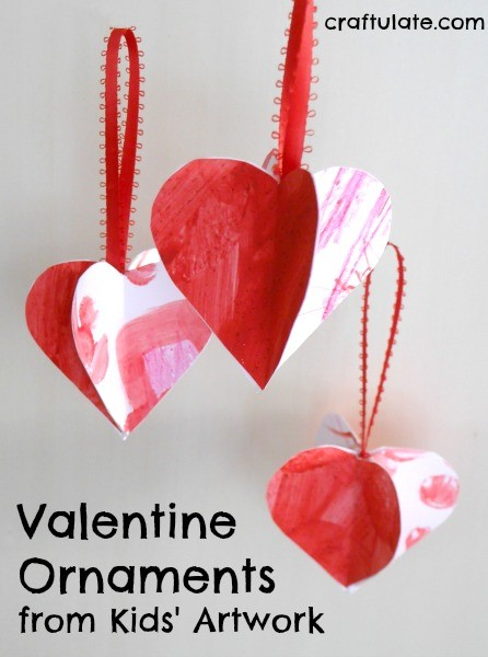 Valentine Ornaments From Kids Artwork Craftulate
