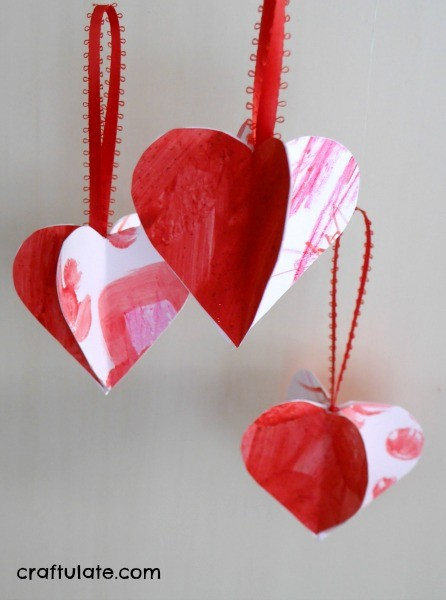 Schön Valentine Ornaments From Kidsu0027 Artwork   A Cute Craft For Mixed Ages!