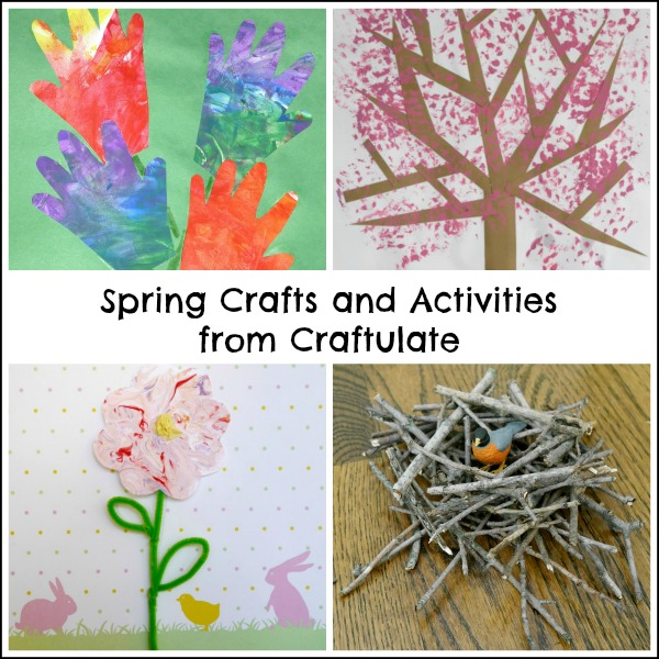 Spring Crafts and Activities from Craftulate