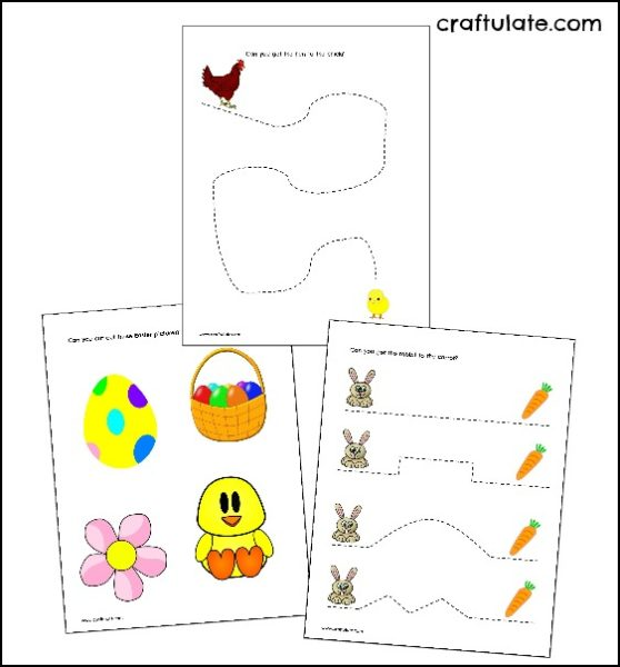 Easter Cutting Practice Worksheets Craftulate